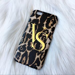 Victoria's Secret iPhone 6 Case Leopard Print Gold